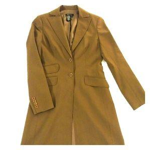 Long  caramel brown coat